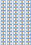 West Virginia Flag Stickers - 65 per sheet